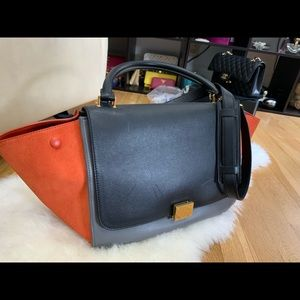 Celine Medium Trapeze Tricolor
